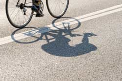 bicyclist in street